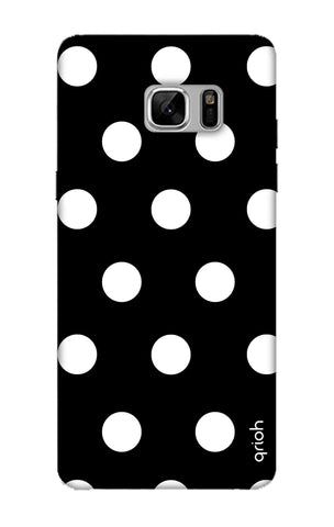 White Polka On Black Samsung Note 8 Cases & Covers Online