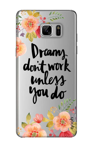 Make Your Dreams Work Samsung Note 8 Cases & Covers Online