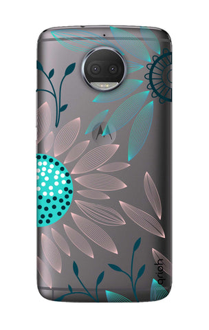 Pink And Blue Petals Motorola Moto G5S Cases & Covers Online
