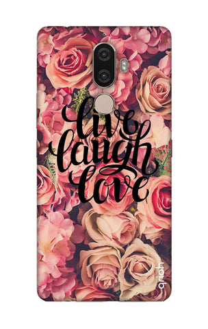 Floral Live, Laugh, Love Lenovo K8 Note Cases & Covers Online