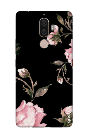 Pink Roses On Black Lenovo K8 Note Cases & Covers Online