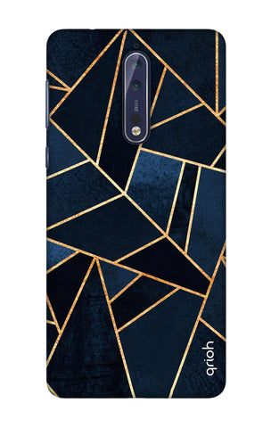 Abstract Navy Nokia 8 Cases & Covers Online
