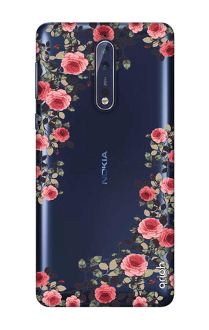 Floral French Nokia 8 Cases & Covers Online