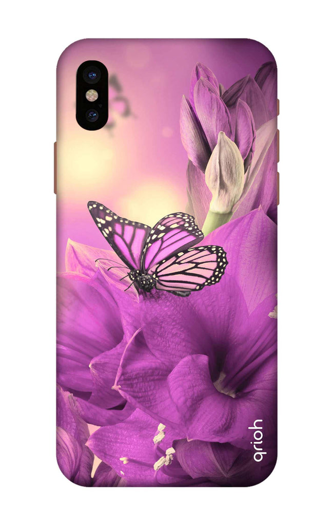newest collection 8eb05 58776 Purple Butterfly Case for iPhone X