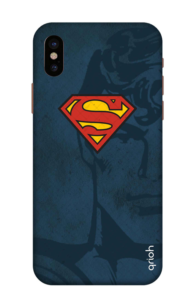hot sale online e6a97 ba5fd Wild Blue Superman Case for iPhone X