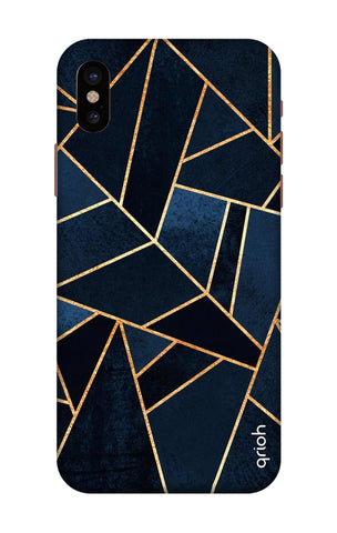 Abstract Navy iPhone X Cases & Covers Online