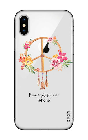 Peace And Love iPhone X Cases & Covers Online