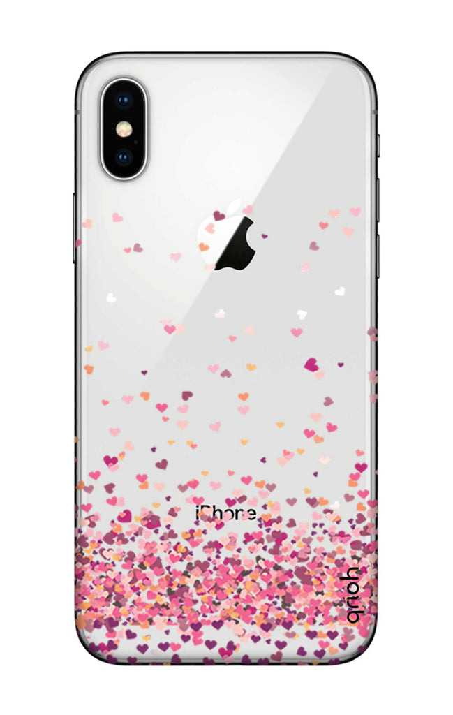 brand new 682a8 2de7a Cluster Of Hearts Case for iPhone X