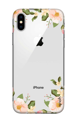 Flower In Corner iPhone X Cases & Covers Online
