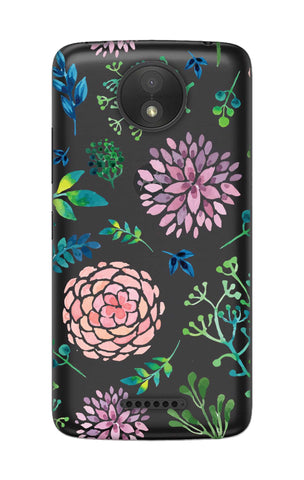 Lillies, Orchids And Leaves Motorola Moto C Cases & Covers Online