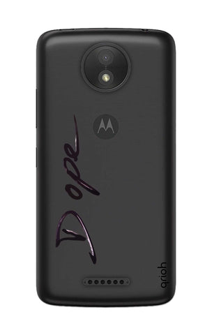Dope Paint Black Motorola Moto C Cases & Covers Online