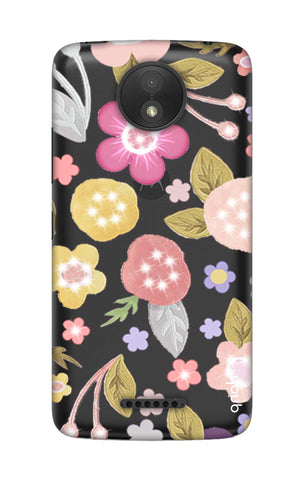 Multi Coloured Bling Floral Motorola Moto C Cases & Covers Online