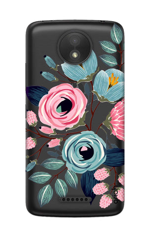 Pink And Blue Floral Motorola Moto C Cases & Covers Online