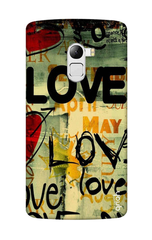 Love Text Lenovo K4 Note Cases & Covers Online