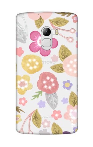 Multi Coloured Bling Floral Lenovo K4 Note Cases & Covers Online