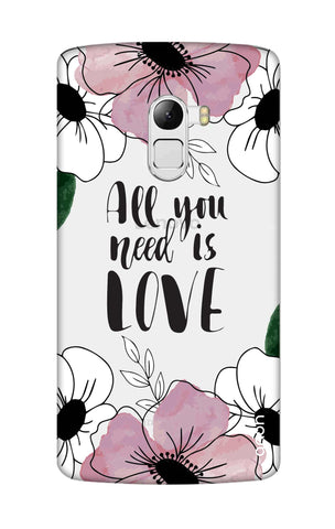 All You Need is Love Lenovo K4 Note Cases & Covers Online