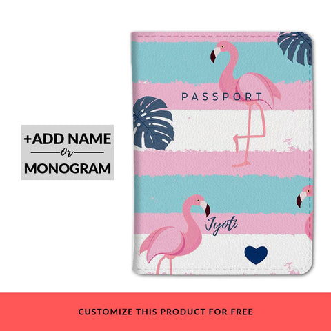 Flamingos Custom Passport Cover