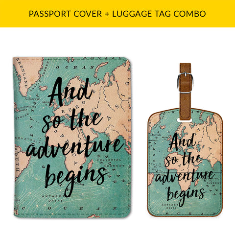 Adventure Begins Passport & Luggage Tag Combo