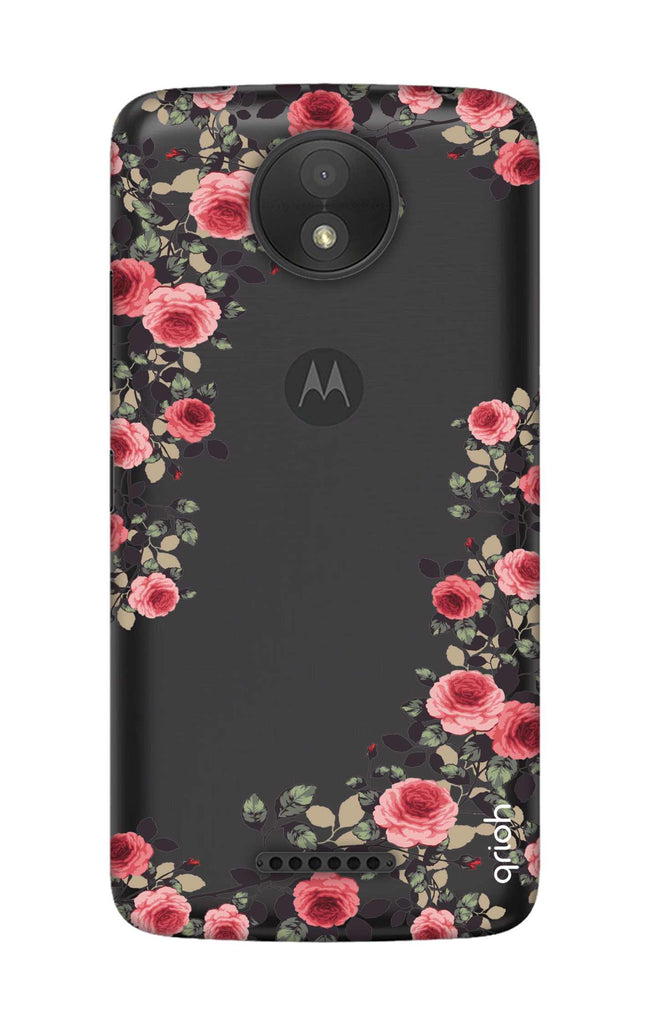 promo code 32a71 8f342 Floral French Case for Motorola Moto C Plus