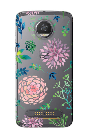 Lillies, Orchids And Leaves Motorola Moto Z2 Play Cases & Covers Online