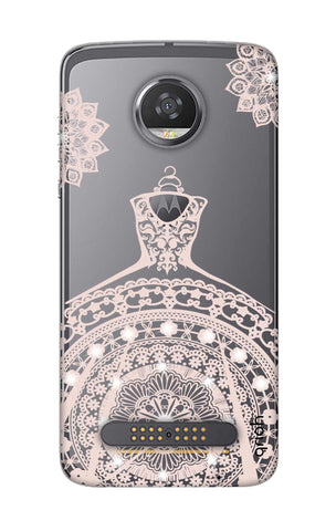 Bling Wedding Gown Motorola Moto Z2 Play Cases & Covers Online