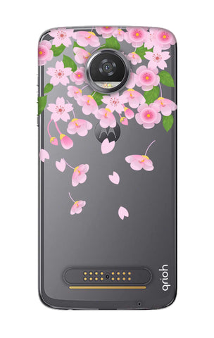 Pretty Pink Floral Motorola Moto Z2 Play Cases & Covers Online