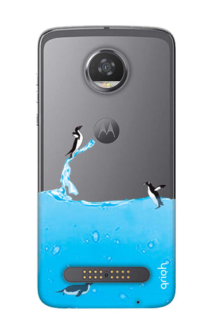 Penguins In Water Motorola Moto Z2 Play Cases & Covers Online