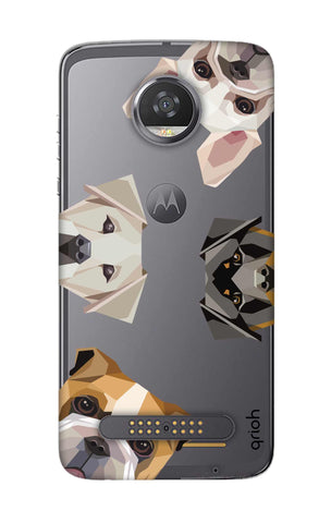 Geometric Dogs Motorola Moto Z2 Play Cases & Covers Online