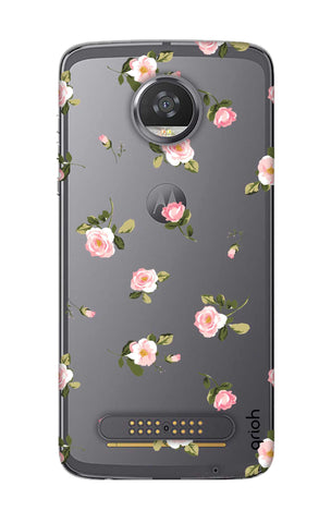 Pink Rose All Over Motorola Moto Z2 Play Cases & Covers Online