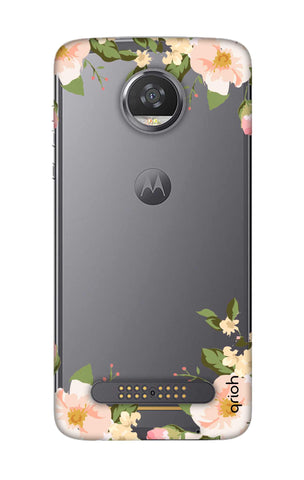 Flower In Corner Motorola Moto Z2 Play Cases & Covers Online