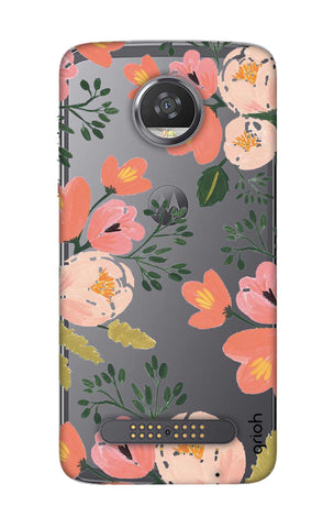 Painted Flora Motorola Moto Z2 Play Cases & Covers Online