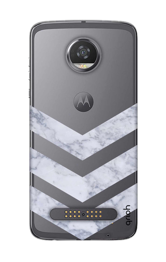 on sale 58fa1 6672c Marble Chevron Case for Motorola Moto Z2 Play