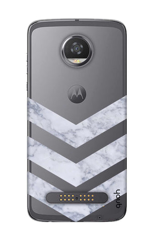 Marble Chevron Motorola Moto Z2 Play Cases & Covers Online