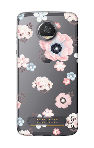 Beautiful White Floral Motorola Moto Z2 Play Cases & Covers Online