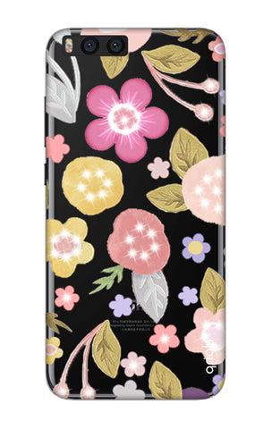 Multi Coloured Bling Floral Xiaomi Mi Note 3 Cases & Covers Online