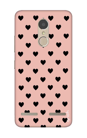 Black Hearts On Pink Lenovo K6 Power Cases & Covers Online