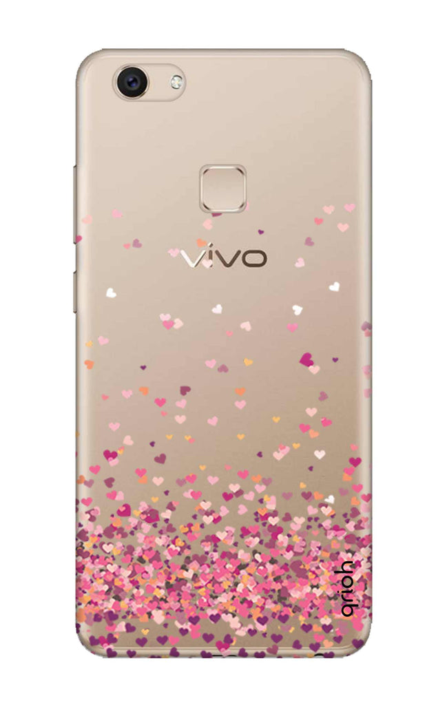 new photos e108e 15560 Cluster Of Hearts Case for Vivo V7 Plus