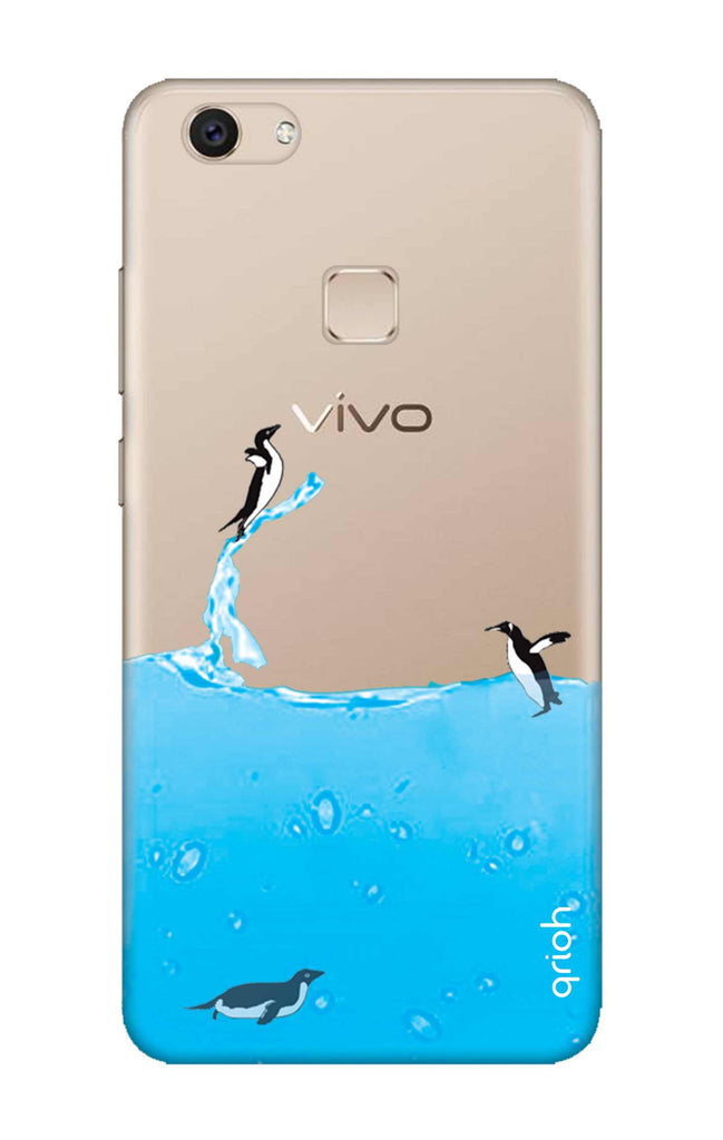 save off 20737 97c26 Penguins In Water Case for Vivo V7 Plus