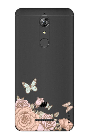 Flower And Butterfly Micromax Canvas Infinity Cases & Covers Online