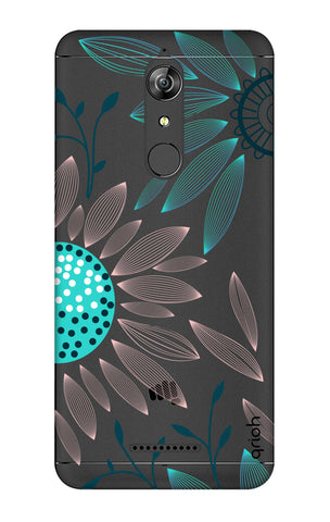 Pink And Blue Petals Micromax Canvas Infinity Cases & Covers Online