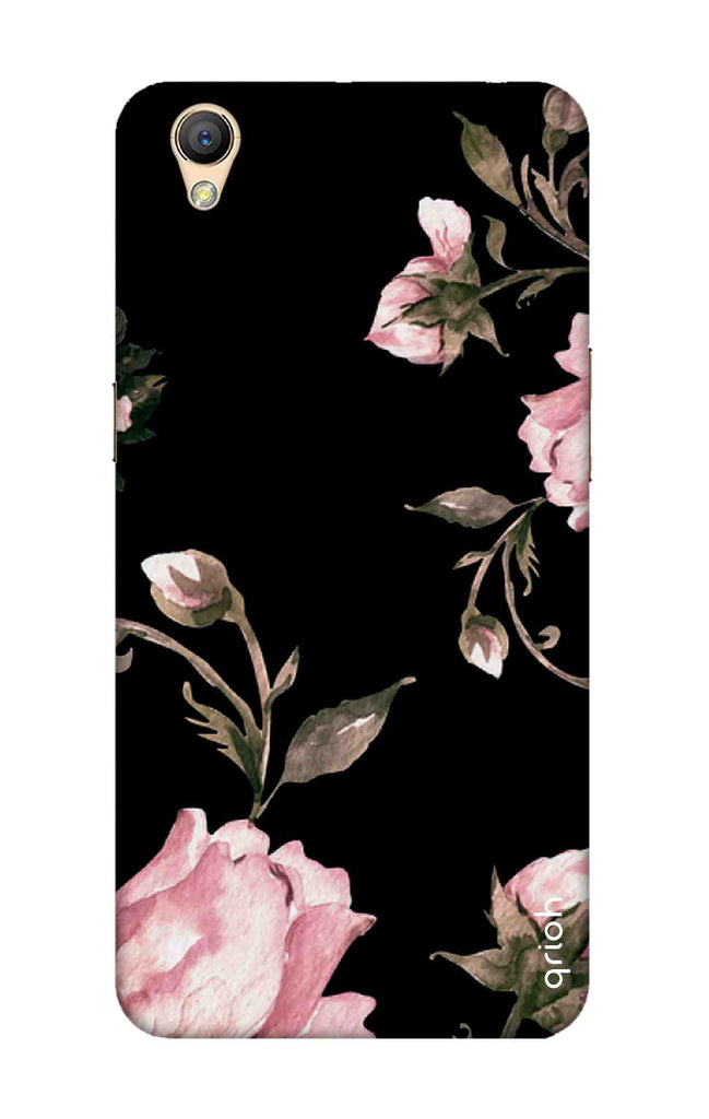Pink Roses On Black Case for Oppo A37
