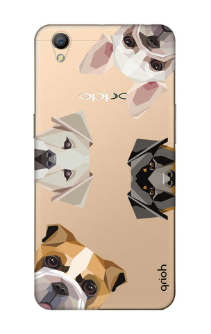 Geometric Dogs Oppo A37 Cases & Covers Online