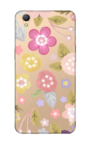 Multi Coloured Bling Floral Oppo A37 Cases & Covers Online