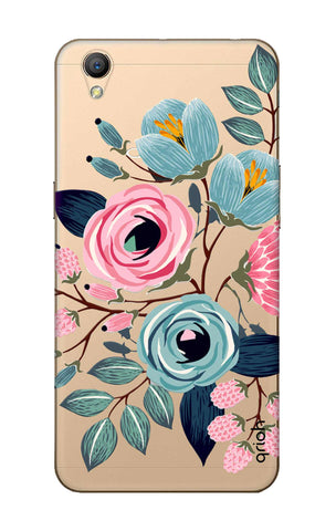 Pink And Blue Floral Oppo A37 Cases & Covers Online