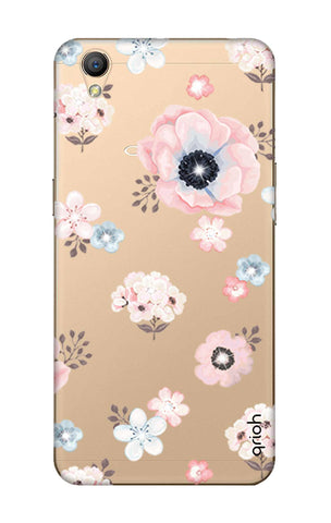 Beautiful White Floral Oppo A37 Cases & Covers Online
