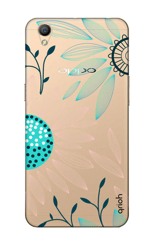 Pink And Blue Petals Oppo A37 Cases & Covers Online