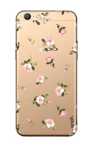 Pink Rose All Over Oppo A57 Cases & Covers Online