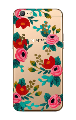 Red Floral Oppo A57 Cases & Covers Online