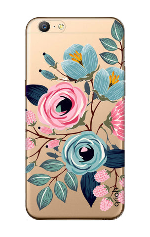 Pink And Blue Floral Oppo A57 Cases & Covers Online
