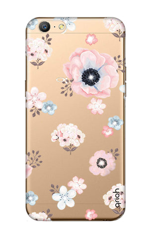 Beautiful White Floral Oppo A57 Cases & Covers Online